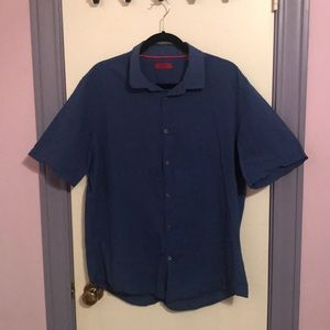 Alfani blue button up shirt.